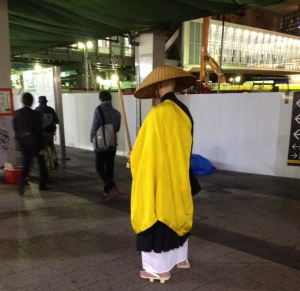 monk in shibuya